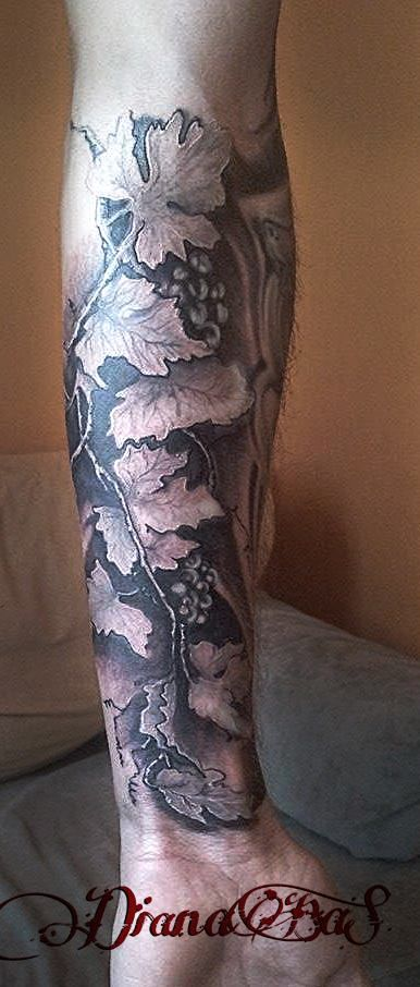vine tattoo...sleeve in progress