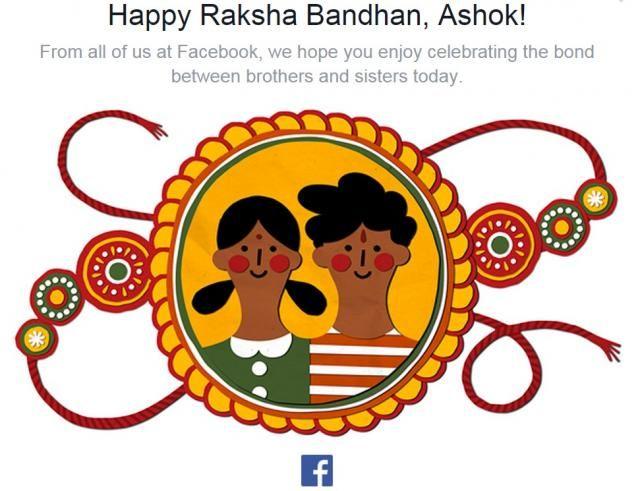 Facebook greets on Raksha Bandhan