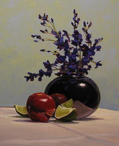 Renato Muccillo - La Vaso Nero 2010 Oil on Panel 16 x 20