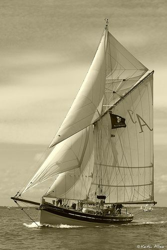 Full Sail. Classic Gaff Pilot Cutter | por Keith Allso ( @dolphiniow )