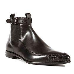Cesare Paciotti Italian Mens Shoes Magic Baby Black Leather Boots (CPM2612)