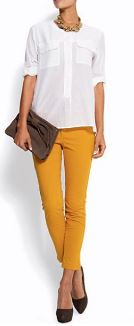 I really need to get some mustard pants. Love them!