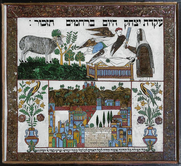 Painting From Safed,Palestine. The Story Of Abraham And