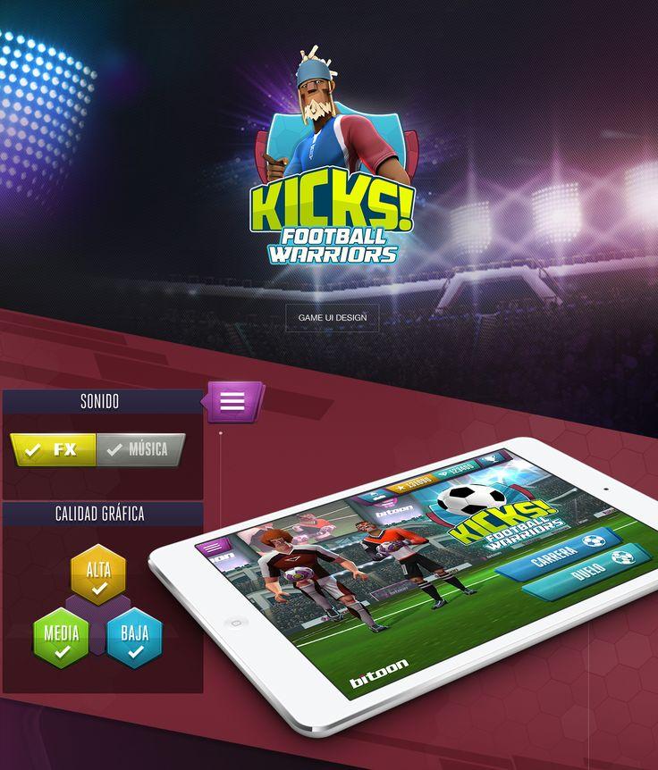 """Kicks! Football Warriors"" GAME UI DESIGN on Behance"