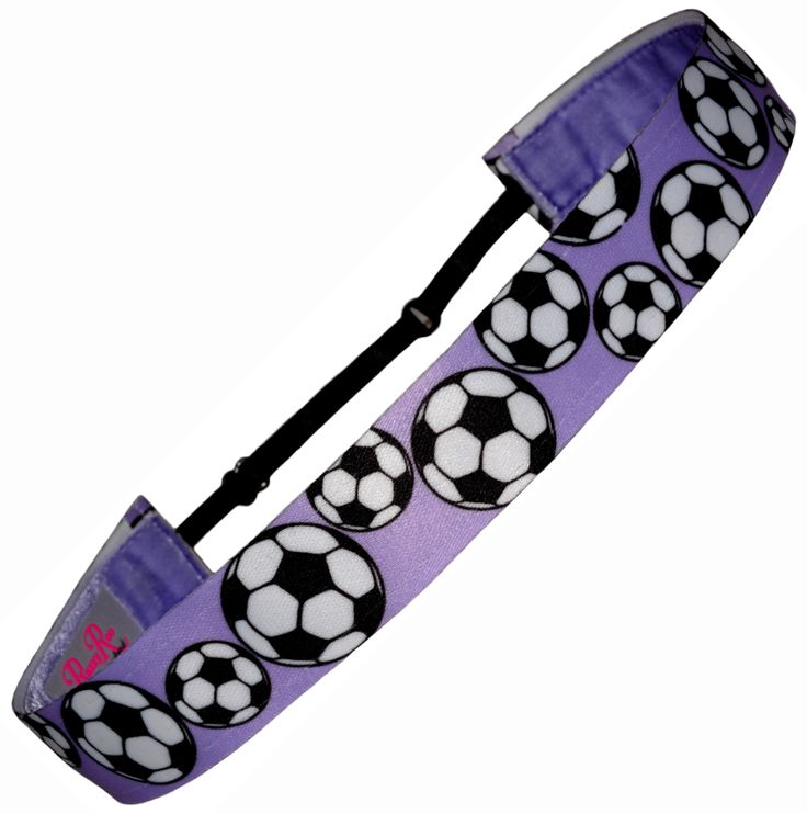 """Our Adjustable Non Slip Soccer Headband features our """"Perfect Fit"""" Adjustable Slider - no guessing about size anymore.  Our headbands fit everybody!  Best of all they don't slip.  We line our headbands with plush velvet creating a """"sticking"""" feature that keeps them from slipping.   Would your soccer girl or team love this headband too?"""