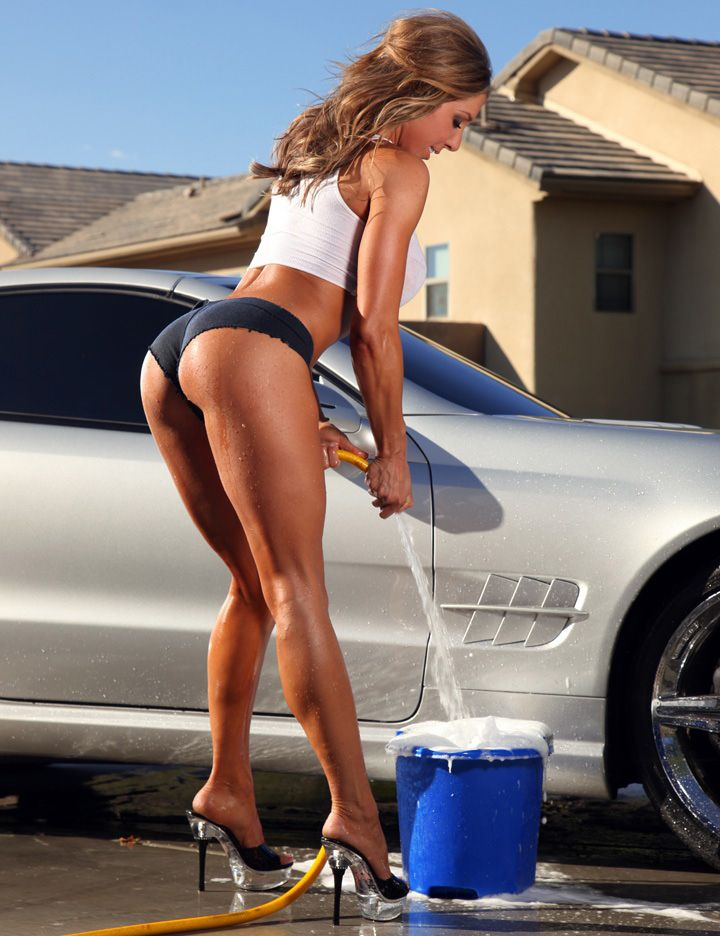 sexy girl wash car porn