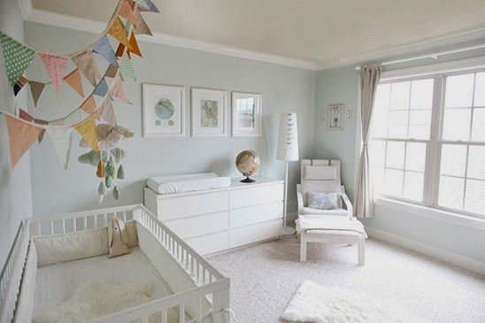 Como decorar un dormitorio de bebé de Ikea     pretty white nursery!
