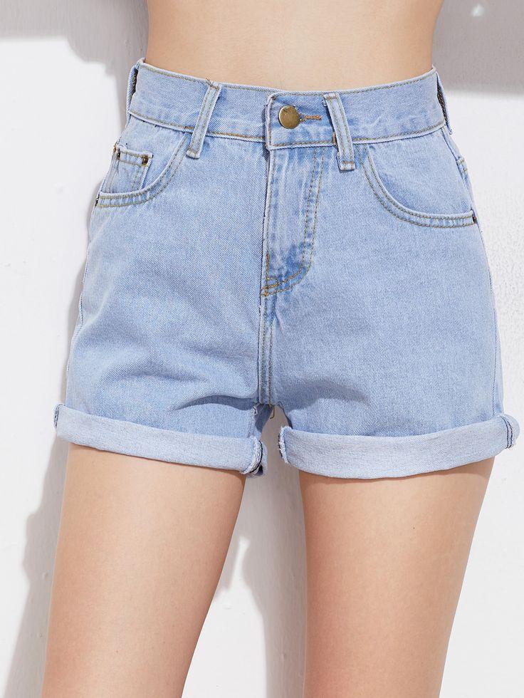 Shop Rolled Cuff Denim Shorts online. SheIn offers Rolled Cuff Denim Shorts & more to fit your fashionable needs.