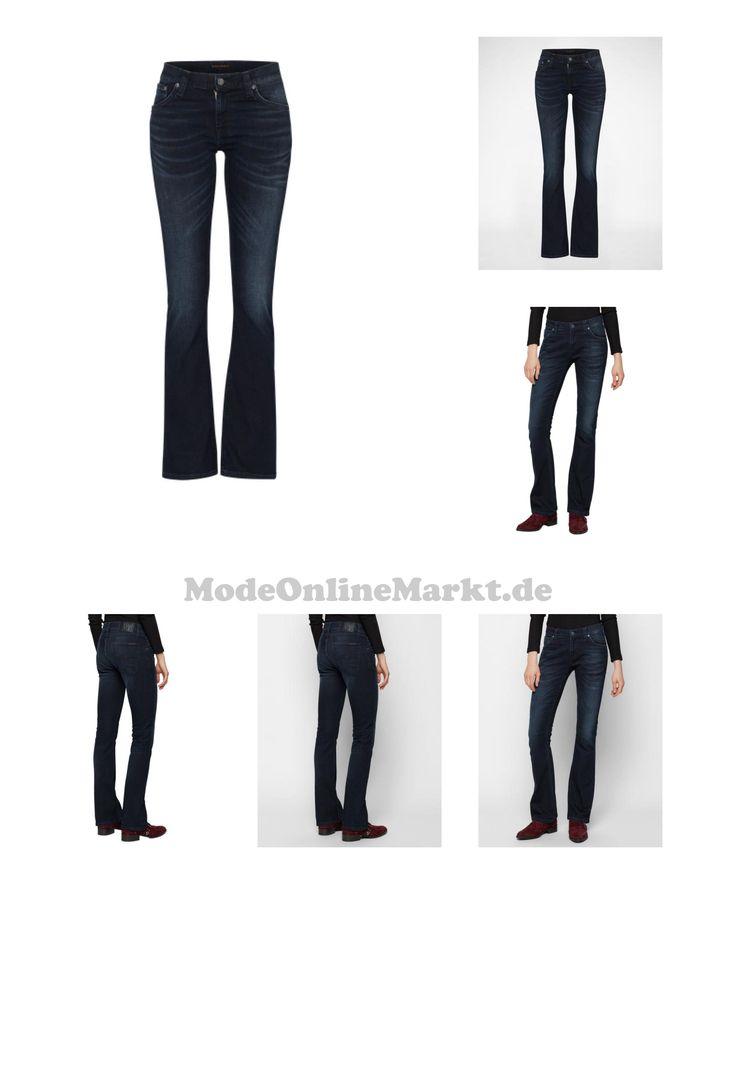 07311131639667   #Nudie #Jeans #Co #Damen #´Funky #Frank´ #Flared #Denim #blau
