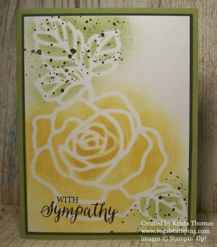 Rose Wonder Sympathy by Krista Thomas, Stampin' Up! Occasions 2016 Catalog