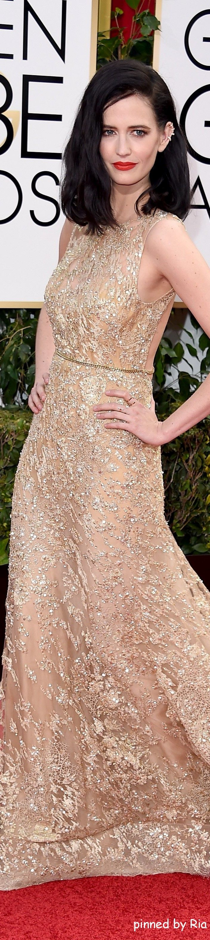 Eva Green in Elie Saab Haute Couture l Golden Globe Awards 2016 l Ria