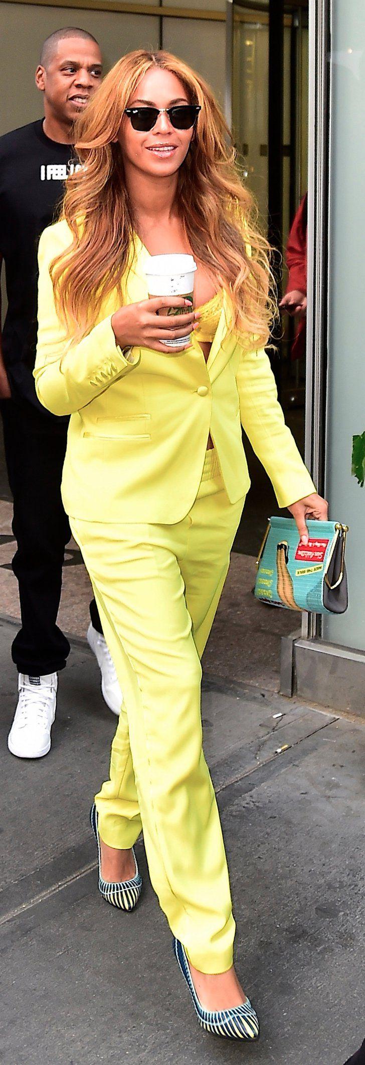 Pin for Later: Beyoncé's Yellow Suit Is Sssssmokin'