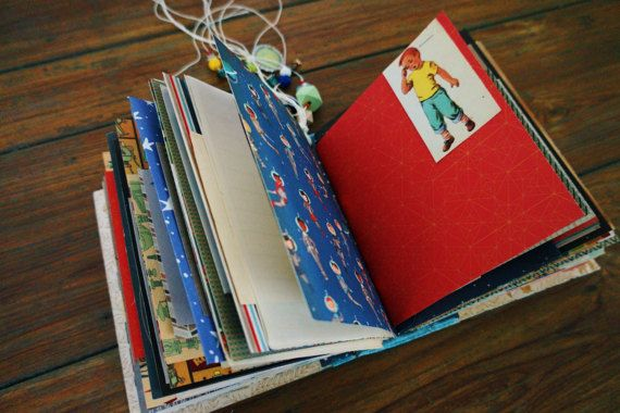 Space Journal Altered Book Baby Book Art Journal Album