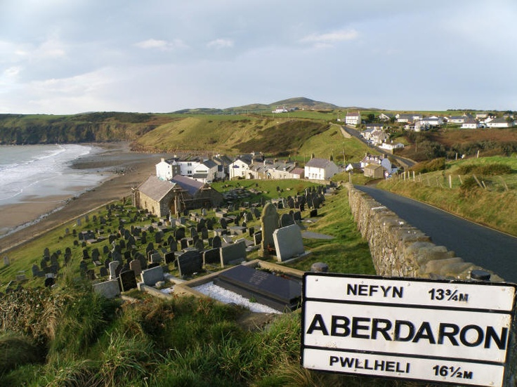 Aberdaron. My ancestors were married here in this church in the 1700's. Ciarl Mark is buried in Bryn Croes. He was a preacher in the area, and we visited the small church he founded as well.