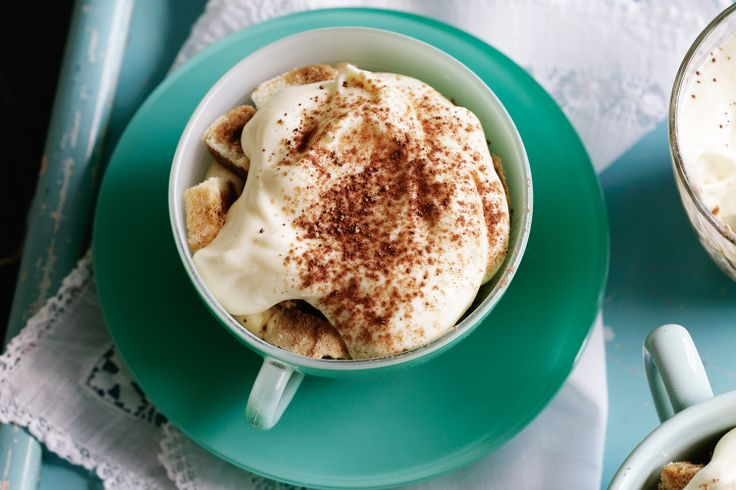 For a restaurant look, we made these low-fat Italian desserts in individual coffee cups.