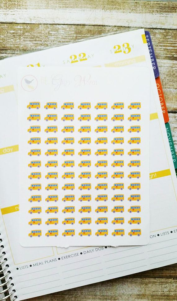 Hey, I found this really awesome Etsy listing at https://www.etsy.com/listing/245896753/small-school-bus-planner-stickers-for