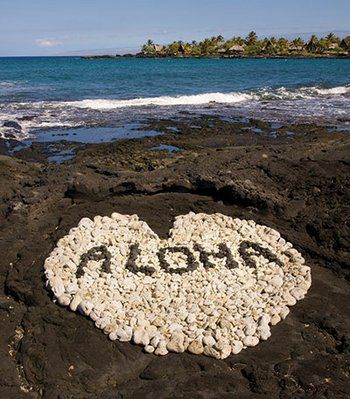 (HAWAII) Aloha... this is on the Big Island of Hawaii on the Kona Gold Coast where our graffiti is done in white coral against the black lava... beautiful and movable! Love it!