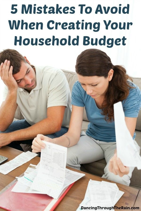 Household budget mistakes can lead to being unable to pay off debt and lots of stress. Make sure that you know where all of your money is going so that you are in control.