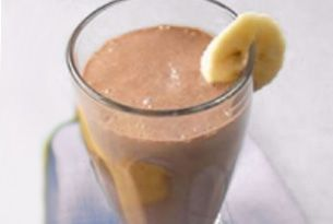 Coffee Banana Soy Smoothie Recipe - coffee, banana, cocoa powder, almond milk, honey