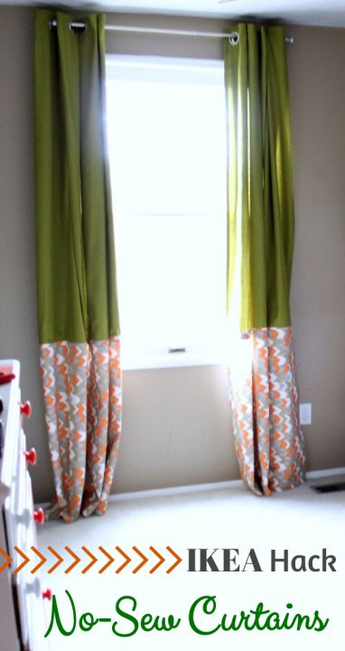 Super simple and beautiful no-sew curtains! {IKEA Hack}   Just a Girl and Her Blog