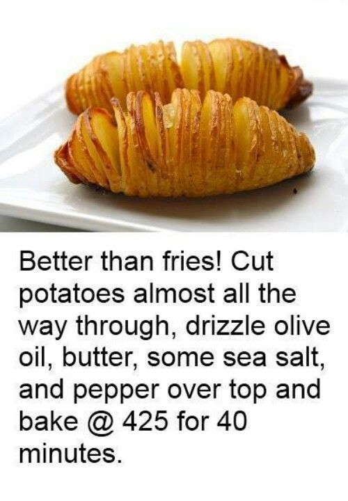 Accordion/hasselback Potatoes: Use chopsticks as guide to prevent cutting through potato.