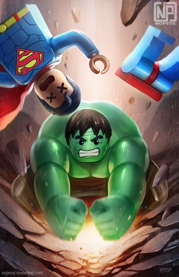 #Hulk #Animated #Fan #Art. (Superman vs Hulk LEGO) By:NOPEYS. ÅWESOMENESS!!!™ ÅÅÅ+