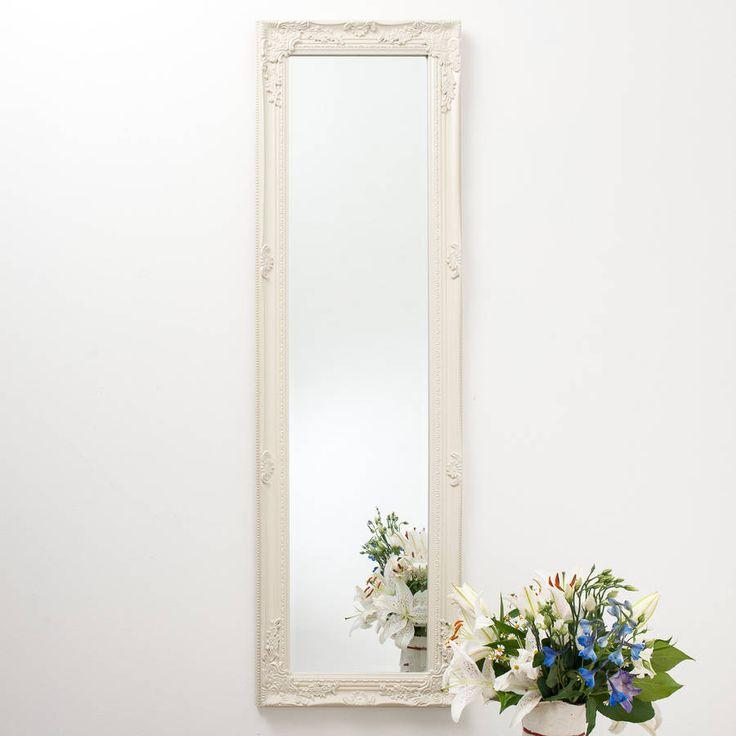 Full Lengh Ornate Vintage Mirror Cream