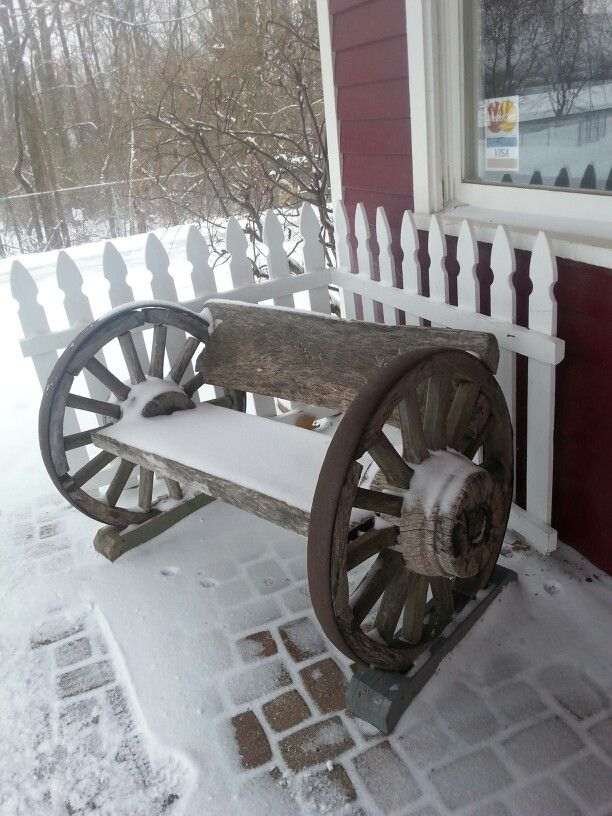 Rustic Benches With Steel Wheels : Best images about wagons wheels on pinterest front