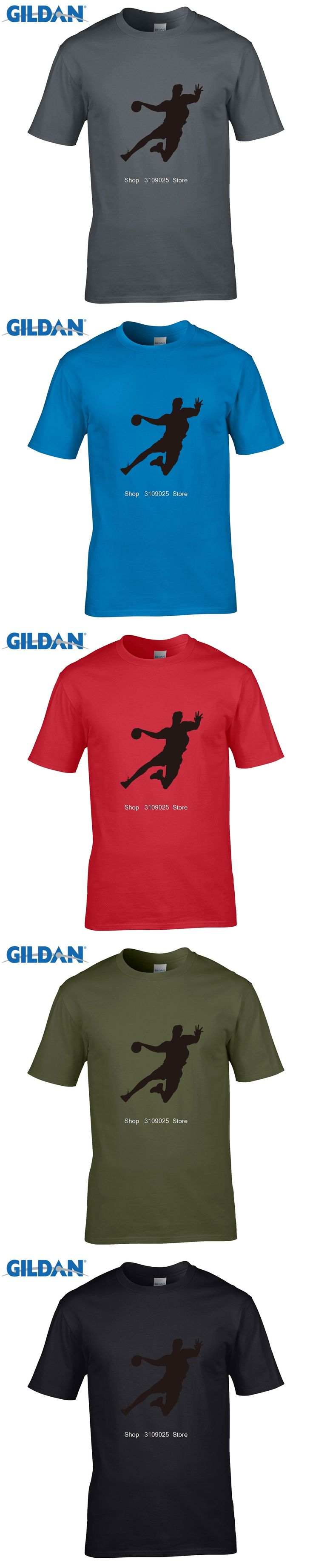 GILDAN customised t-shirts Handball Printed Mens Men T Shirt T-shirt  O Neck Cotton Casual Tshirt Tee Camisetas Masculina