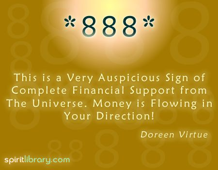 888: the number of luck and abundance. Become a manifesting PRO.  #lawofattractionandlove