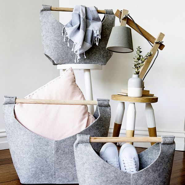 Sneakers, cushions, towels… there's a spot for everything in our Felt Baskets ✖