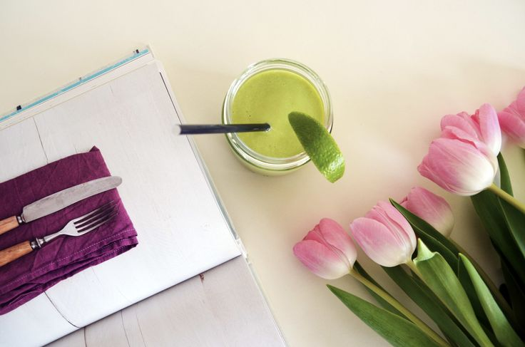 #Avocado #coctail, #pink #tulips