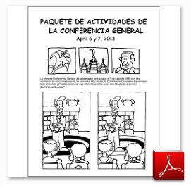 Paquete de Actividades de Conferencia General para Niños en español! :) General Conference Activity Packet in spanish