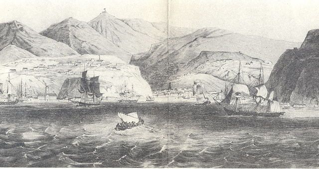 View of Valparaíso Bay in 1830