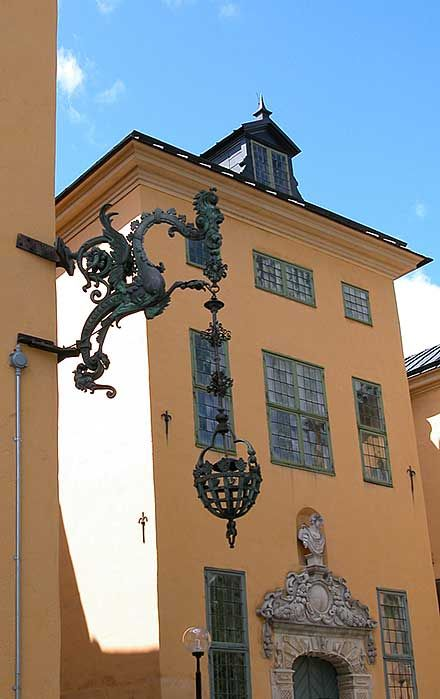 Hanging lamp at Wenngarn Slott, Sweden.