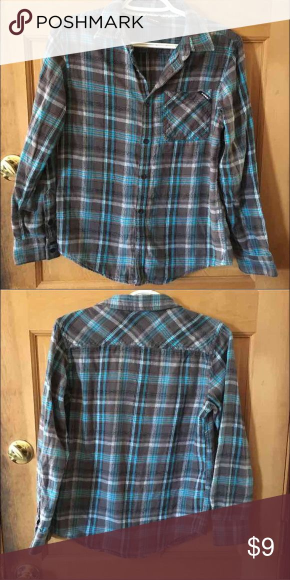 Kids flannel style shirt Kids size large, Tony Hawk, great condition, super comfy, 100% cotton Shirts & Tops Button Down Shirts
