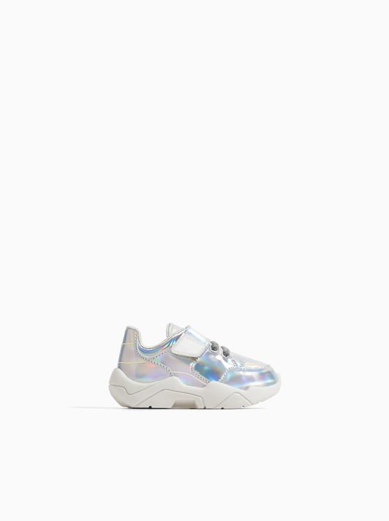 fab38cbbba CHUNKY SOLE IRIDESCENT SNEAKERS | Cute Little Feet | Sneakers, Girls ...