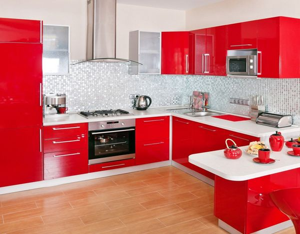 Kitchen The Beautiful Red Kitchen Cabinet Cozinhas Modernas Decoracao Cozinha Vermelha Decoracao Cozinha