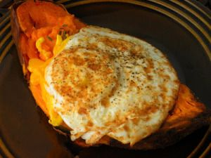 EGGS IN SWEET POTATO SHELLS 300x225 New Recipes for the Herbal D tox