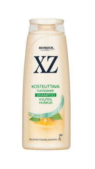 Kuiville ja käsitellyille hiuksille sekä kuivalle hiuspohjalle: Kosteuttava XZ Xylitol Hunaja -shampoo http://www.xz.fi/tuotteet/xz-xylitol-hunaja-shampoo