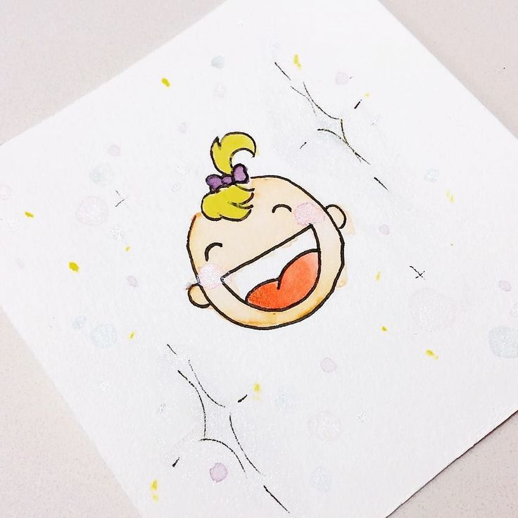 Baby shower card anyone? . . . #midnightdoodles #sparkle #watercolor #illustration #ink #baby #card