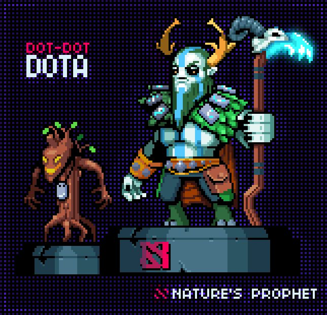 Dot-Dot Dota Pixel Artist:army of trolls Source:armyoftrolls.tumblr.com