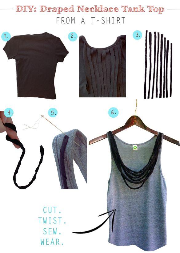 Coco 的美術館: DIY T- Shirt Redesign Ideas (part 5)