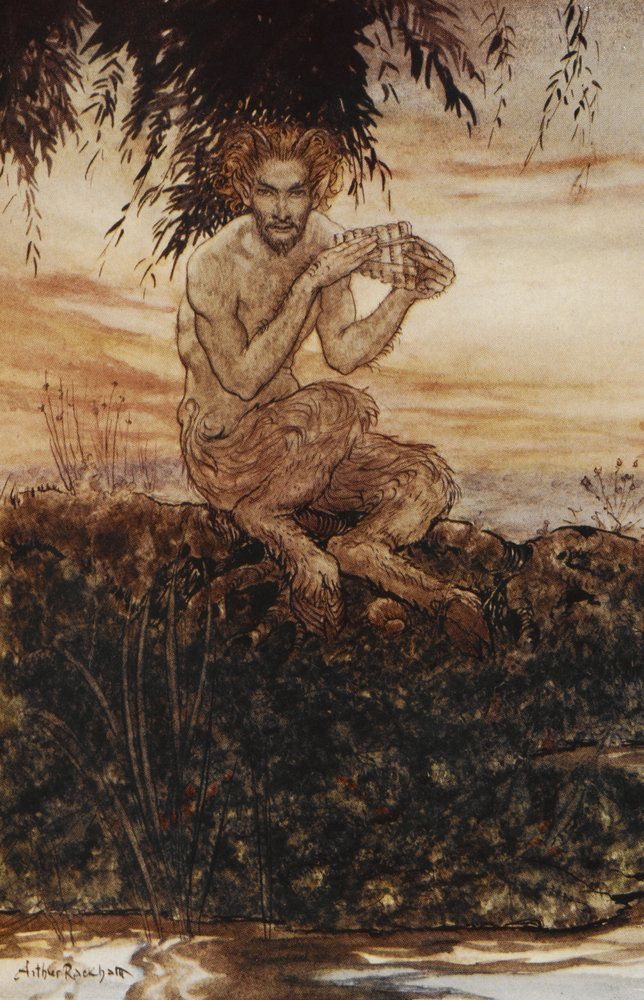 Pan the Friend and Helper by Arthur Rackham - British Library Prints