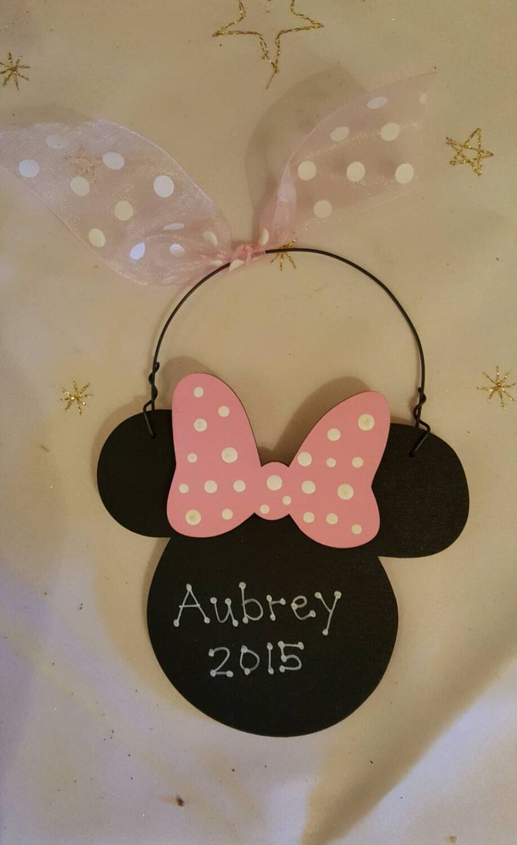 A personal favorite from my Etsy shop https://www.etsy.com/listing/254180954/minnie-mouse-christmas-ornament