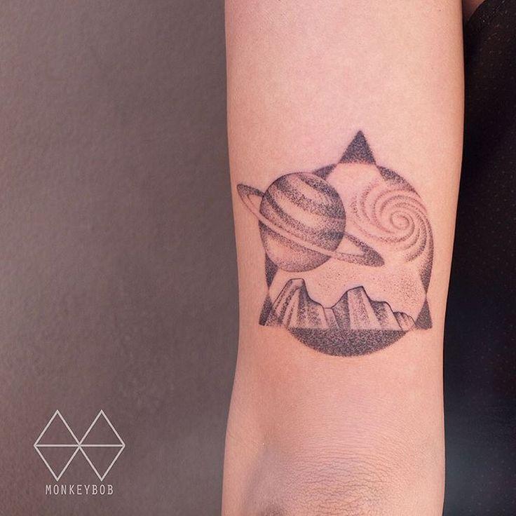 49 best Yin Yang tattoo images on Pinterest | Tattoo ideas ... Saturn Tattoo Tumblr