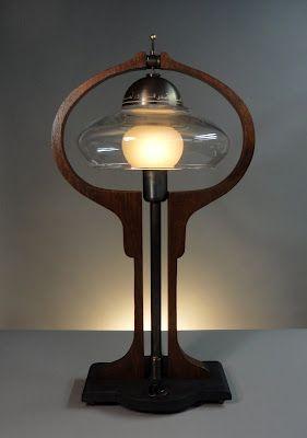 The Donovan Harp steampunk table lamp by Art Donovan