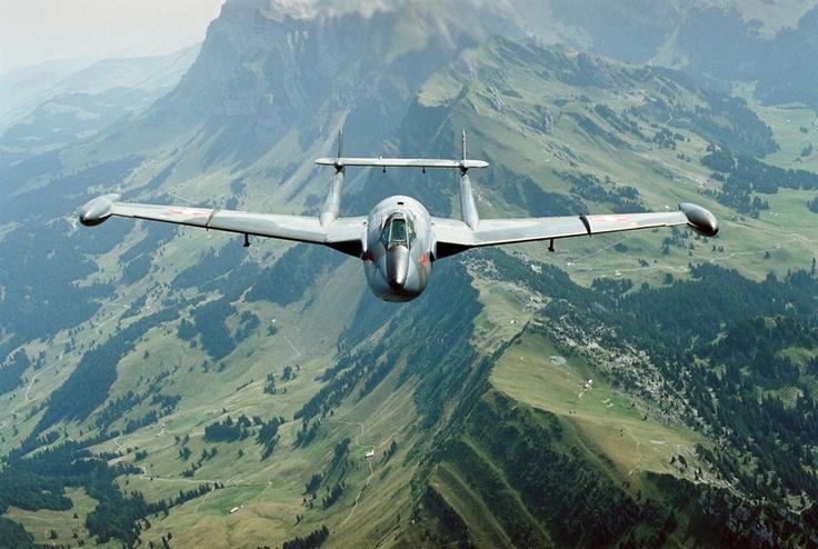 Swiss Air Force. De Havilland DH-112 Venom, GB, 250x, 1953-1984