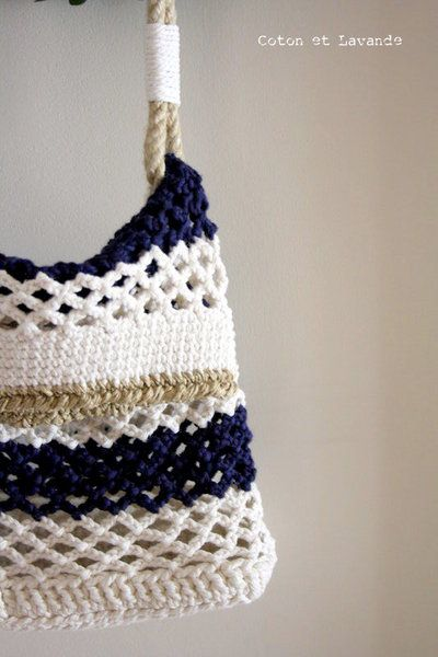 Coton et Lavande: TUTORIAL: STRIPED BAG.... (1ª parte) - En Español <3