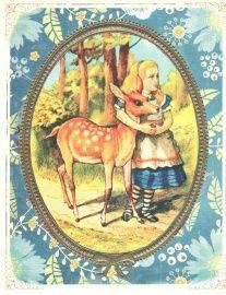 Alice in Wonderland postcard by Trolez - love it!